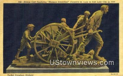 Pioneers en Route - Salt Lake City, Utah UT Postcard