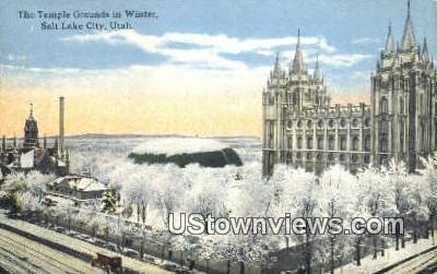 Temple Grounds - Salt Lake City, Utah UT Postcard
