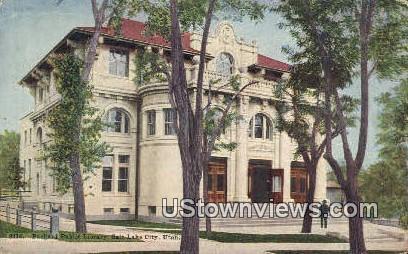 Packard Public Library - Salt Lake City, Utah UT Postcard