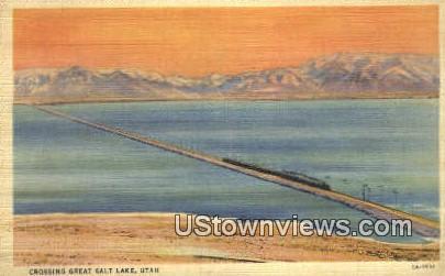 Great Salt Lake, Utah, UT, Postcard