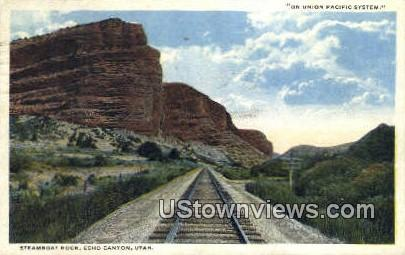 Steamboat Rock - Echo Canyon, Utah UT Postcard