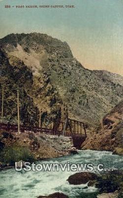 First Bridge - Ogden Canyon, Utah UT Postcard