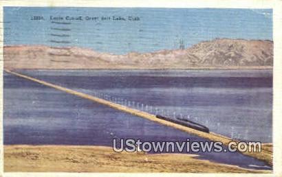 Lucin Cut-Off - Great Salt Lake, Utah UT Postcard