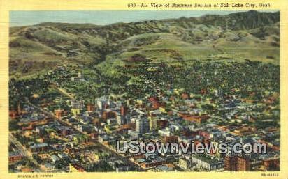 Business Section - Salt Lake City, Utah UT Postcard