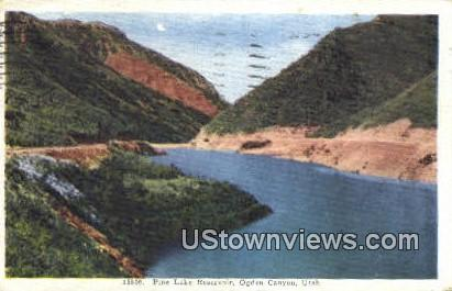 Pine Lake Reservoir - Ogden Canyon, Utah UT Postcard
