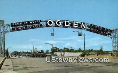 Famous Arch - Ogden, Utah UT Postcard