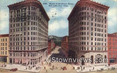 Boston & Newhouse Bldgs - Salt Lake City, Utah UT Postcard
