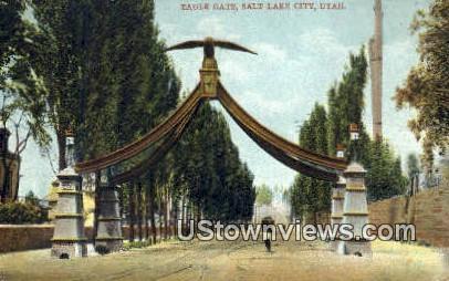 Eagle Gate - Salt Lake City, Utah UT Postcard