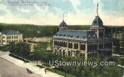 Library & City Hall - Ogden, Utah UT Postcard