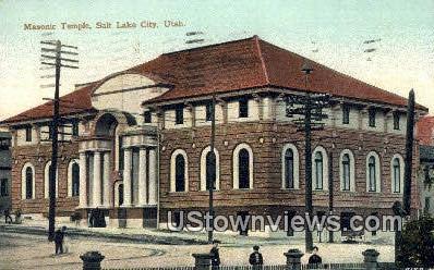 Masonic Temple - Salt Lake City, Utah UT Postcard