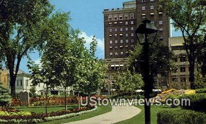 Flower Garden in Park - Ogden, Utah UT Postcard