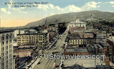 Upper Main Street - Salt Lake City, Utah UT Postcard