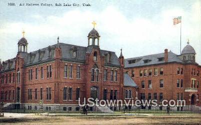 All Hallows College - Salt Lake City, Utah UT Postcard
