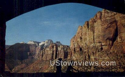 Zion Canyon National Park, Utah, UT, Postcard
