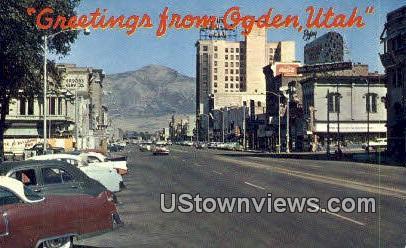 Ogden, Utah, UT, Postcard