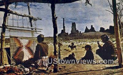 Navajo Indians, Arizona - Misc, Utah UT Postcard