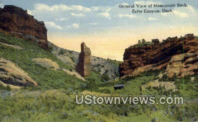Monument Rock - Echo Canyon, Utah UT Postcard