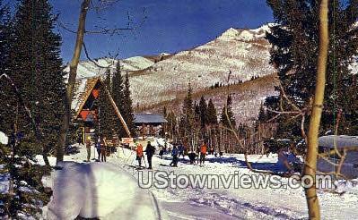 Salitude Ski Area - Big Cottonwood Canyon, Utah UT Postcard