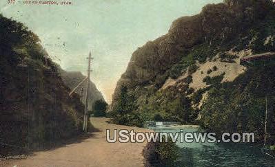 Ogden Canyon, Utah, UT, Postcard