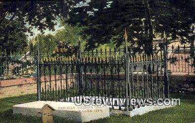 Brigham Young's Grave - Salt Lake City, Utah UT Postcard