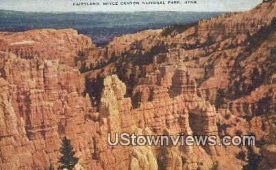 Fairyland - Bryce Canyon National Park, Utah UT Postcard