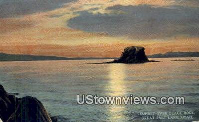 Black Rock - Great Salt Lake, Utah UT Postcard