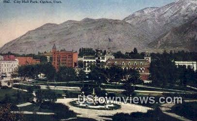 City Hall Park - Ogden, Utah UT Postcard