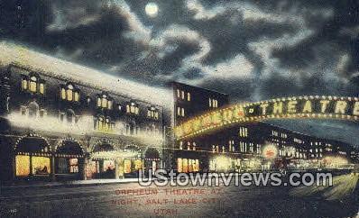 Orpheum Theatre - Salt Lake City, Utah UT Postcard
