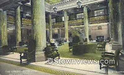 The Lobby, Hotel Utah - Salt Lake City Postcard
