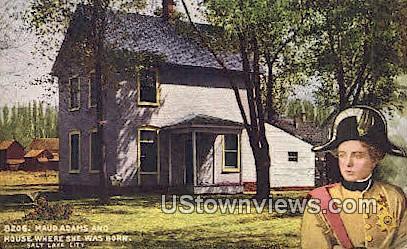 Maud Adams & House - Salt Lake City, Utah UT Postcard