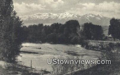Weber River & Wasatch Range - Peterson, Utah UT Postcard