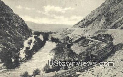 Train No. 1 - Weber Canyon, Utah UT Postcard