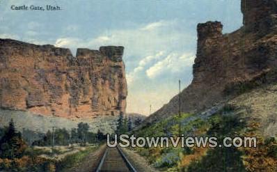 Castle Gate, Utah, UT, Postcard