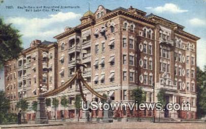 Eagle Gate & Bransford Apts. - Salt Lake City, Utah UT Postcard