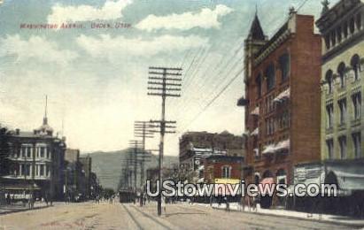 Washington Ave. - Ogden, Utah UT Postcard