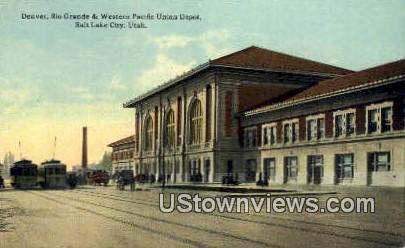 Western Pacific Union Depot - Salt Lake City, Utah UT Postcard
