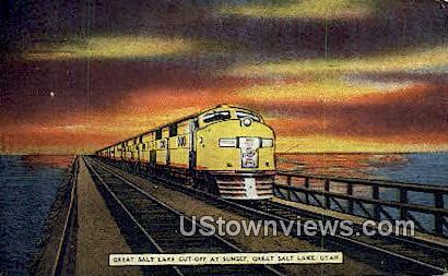 Great Salt Lake Cut-Off - Utah UT Postcard
