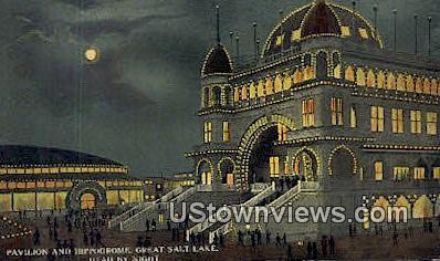 Pavilion & Hippodrome - Great Salt Lake, Utah UT Postcard