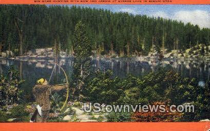 Mirror Lake - Misc, Utah UT Postcard