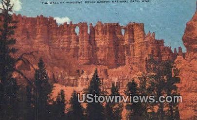 The Wall of Windows - Bryce Canyon National Park, Utah UT Postcard