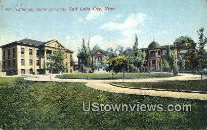 Latter-day Saints University - Salt Lake City, Utah UT Postcard