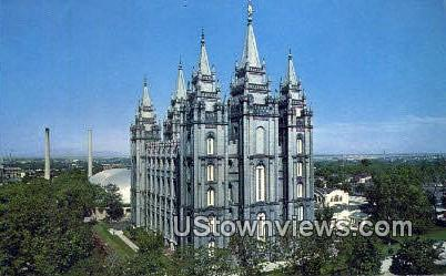 Church of Jesus Christ - Salt Lake City, Utah UT Postcard