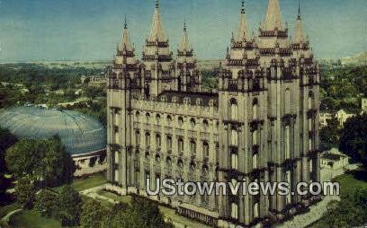 Church of Jeses Christ - Salt Lake City, Utah UT Postcard