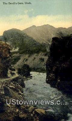 Devils Gate, Utah, UT, Postcard