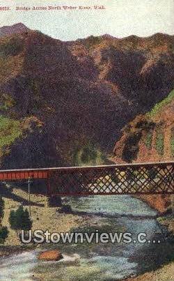 Weber River, Utah, UT, Postcard