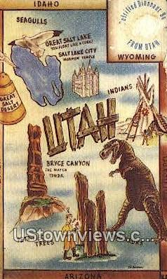 Bryce Canyon National Park, Utah, UT, Postcard