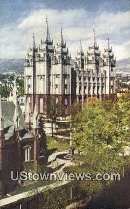 Temple Court - Salt Lake City, Utah UT Postcard