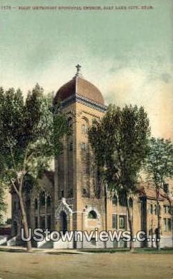 First Methodist Episcopal Church - Salt Lake City, Utah UT Postcard