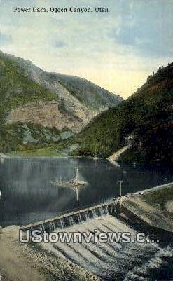 Power Dam - Ogden Canyon, Utah UT Postcard