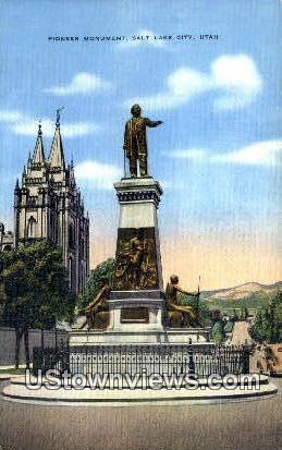 Pioneer Monument - Salt Lake City, Utah UT Postcard